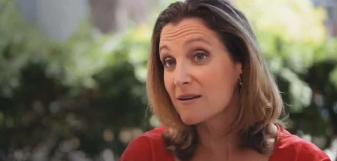 Photo of Chrystia Freeland, journalist turned politician.