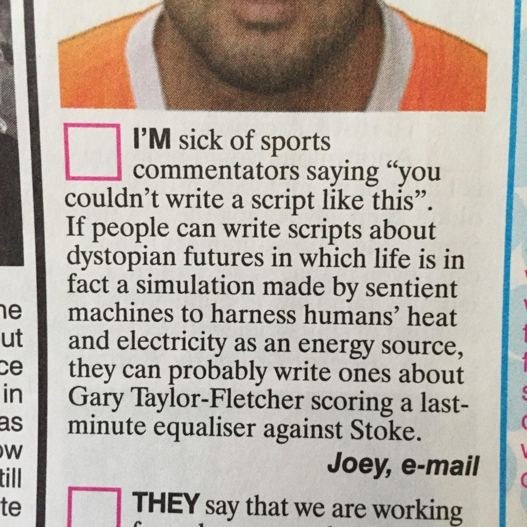 soccer commentary letter