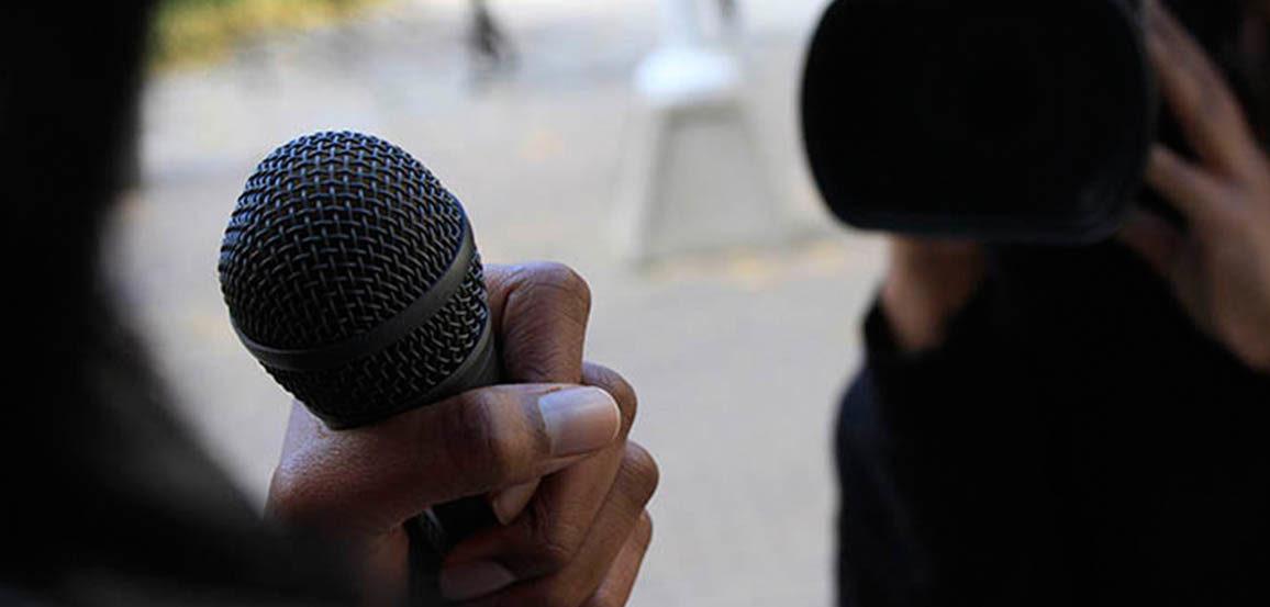 A close up of a microphone