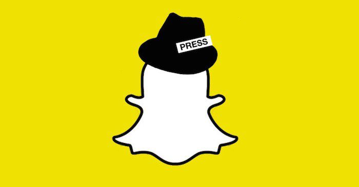 The Snapchat ghost wearing a press hat