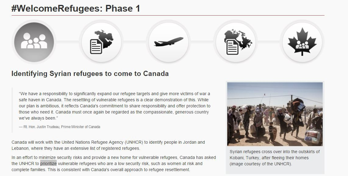 "There's only one word Canadian journalists are finding different interpretations and responses to in the Liberal government's Syrian refugee plan: ""prioritize."""
