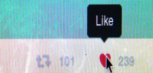 "A close up of the ""like"" button on Twitter"