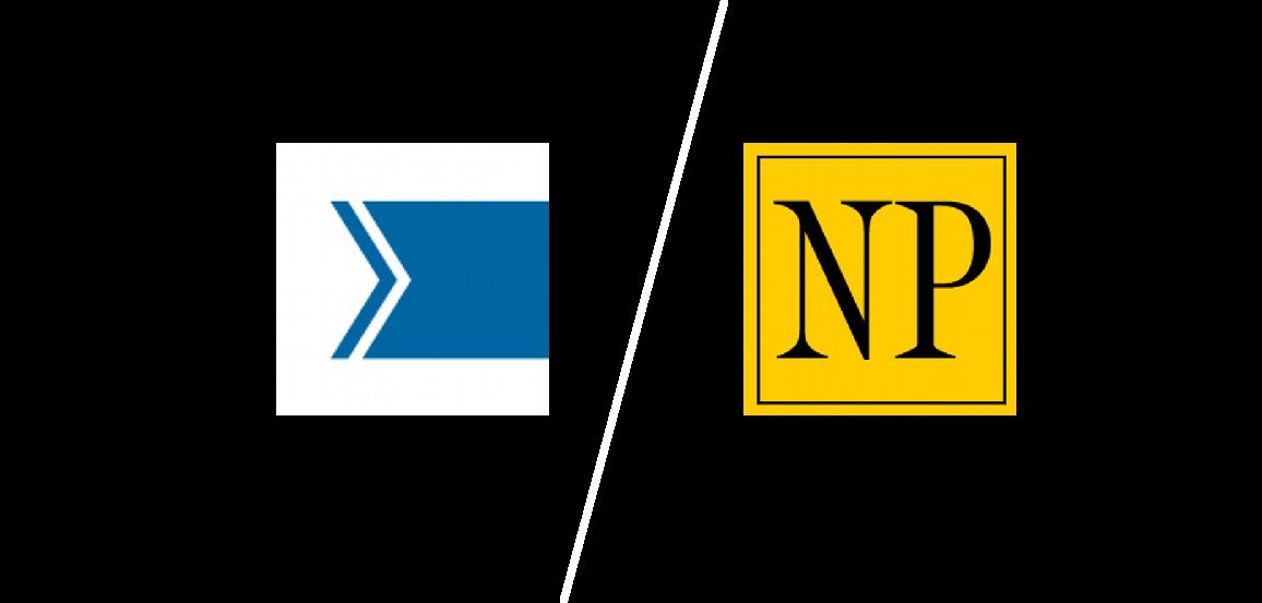 Toronto Star logo and National Post logo on a split screen