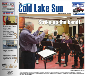 Peter Lozinski's First Edition at Cold Lake Sun