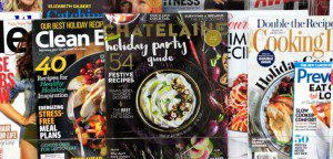 Chatelaine appears on a newsstand alongside women's magazines