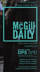 McGill Daily cover