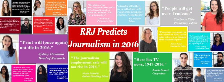Collage of the masthead's predictions for 2016