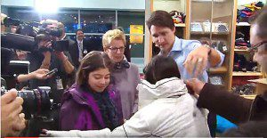 Trudeau meets refugees