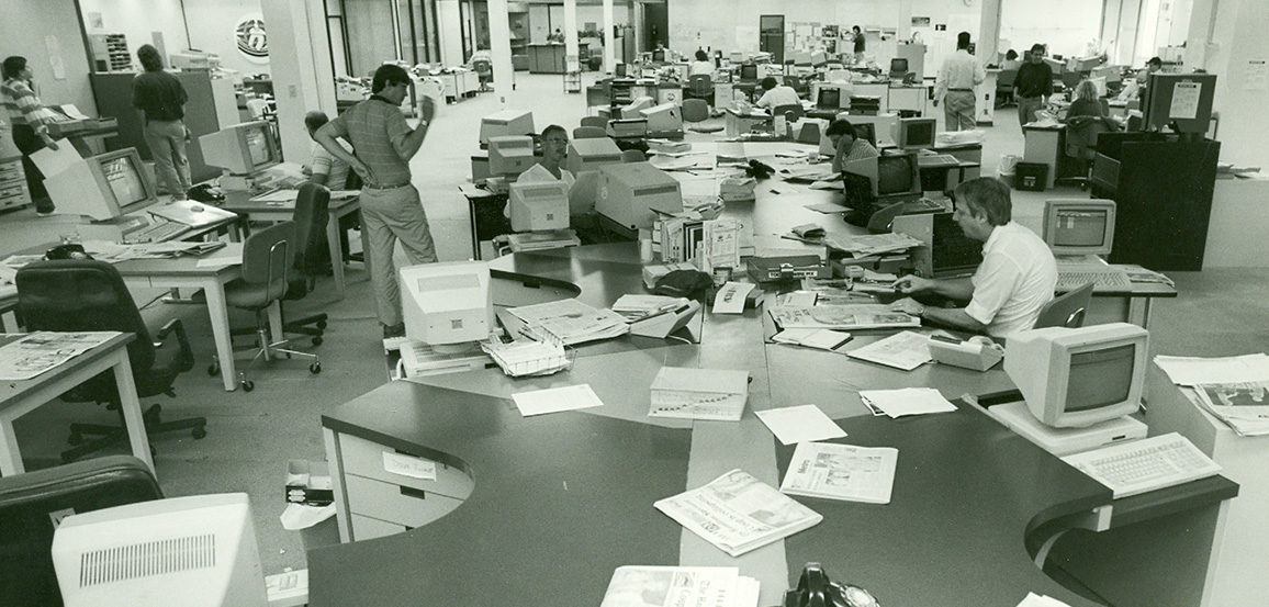 old newsroom
