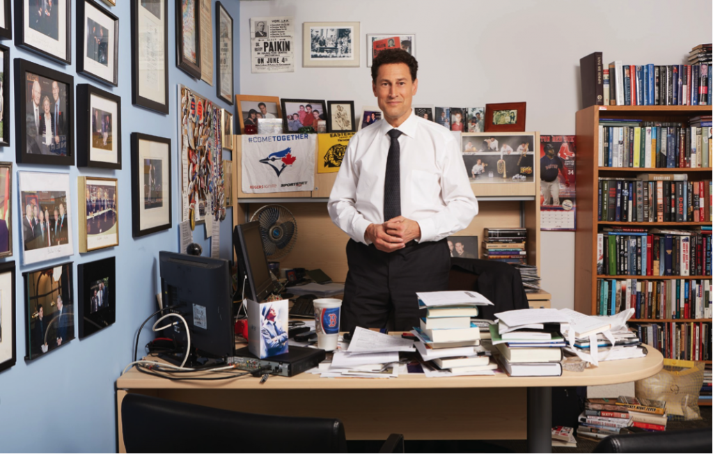 Paikin in his office