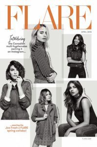 Cover of Flare depicting a series of five women.