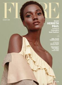 Cover of Flare depicting model Herieth Paul.