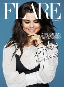 Cover of Flare depicting singer and actress Selena Gomez.
