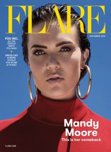 Cover of Flare depicting Mandy Moore.