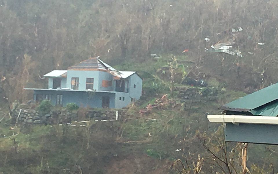 During Hurricane Maria, Alex Dick-Read fled to his neighbour's house across the street as his own home collapsed / Photo courtesy Alex Dick-Read