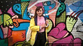 Katie Jensen poses in an alleyway in the Toronto's Parkdale neighbourhood on Oct. 4, 2017. (Amy van den Berg/RRJ)