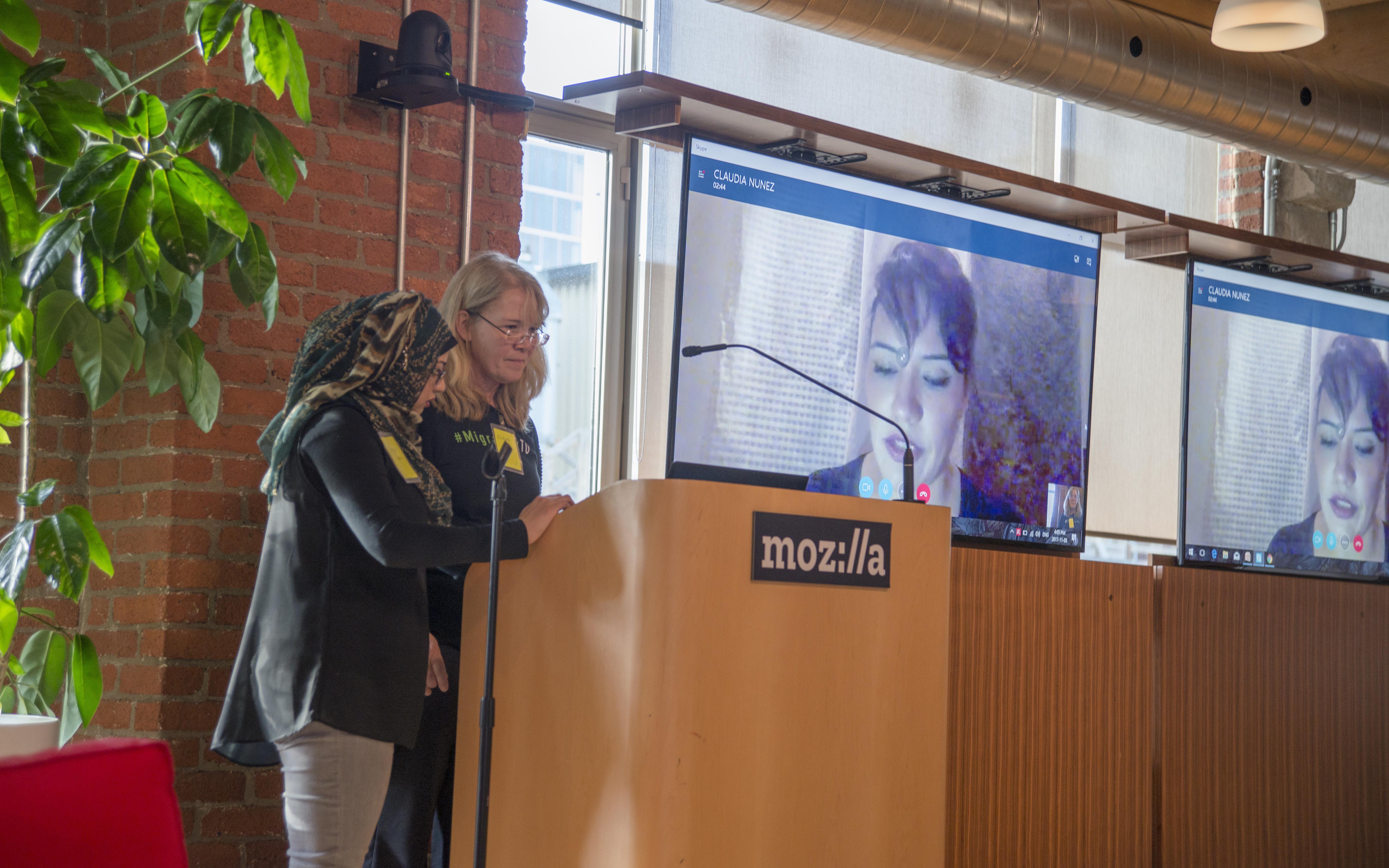 MigrahackTO, Claudia Nunez, Skype