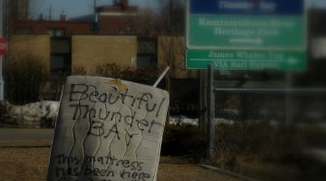 A 2009 photo of a road sign in Thunder Bay, Ont. (Jeremiah John McBride/Flickr)