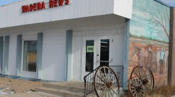 The Wadena News' office in Wadena, Sask. The 110-year old paper is the main source of news for the community of about 1,000. (Wadena News/Facebook)