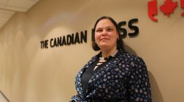 Michelle McQuigge poses at the Canadian Press office in Toronto.