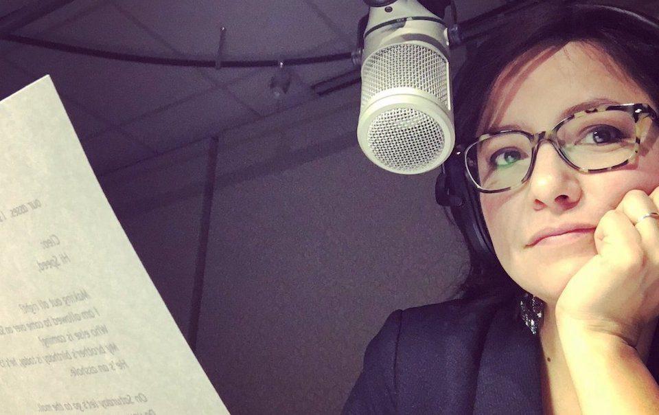 CBC's Connie Walker in the studio