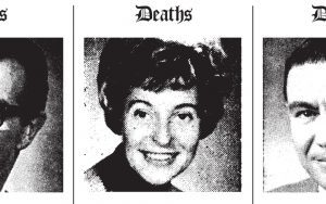 Black and white obituary photos