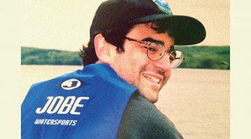 Randy Starkman looks over his shoulder, smiling.