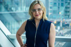 Writer Sarah Kurchak poses for a headshot